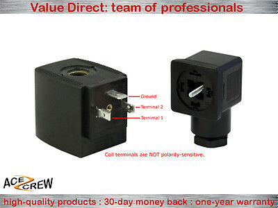 Solenoid Coil 12v Dc Vdc For Ace Crew Brass Normally Closed Electric Valve