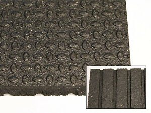 "4' x 6' x 3/4"" Revulcanized Rubber Matting"