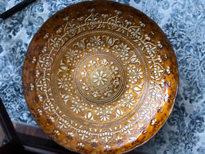 Bombay large plate with stand