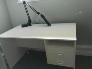 Desk and desk lamp