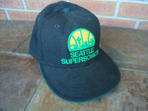 SEATTLE SUPERSONICS VINTAGE NEW ERA CAP FITTED SIZE 7 1/2