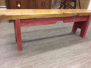 SOLID WOOD HALL BENCH  ....GORGEOUS!!!!