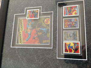 Superman, Captian Canuck, Nelvana Framed Stamps Peterborough Peterborough Area image 2