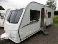 Coachman Pastiche 560/4 2011 Fixed Bed Touring Caravan Full End Washroom