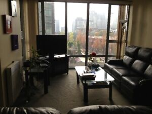 Full Bedroom, Bathroom Elegant 1200sq  Furnished Yaletown Condo