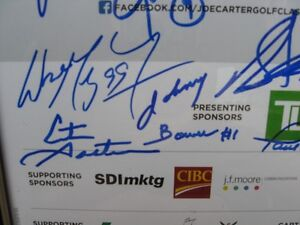 Golf Poster Signed by Wayne Gretzky plus Many More Greats Kitchener / Waterloo Kitchener Area image 3