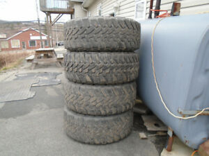 SET OF FOUR TOYO OPEN COUNTRY M/T 35X12.50 R 18LT