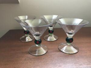 4 Verres à Martini