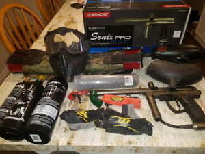 Spyder Sonix Pro Paintball Gun and Full Paintball Gear Setup