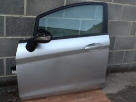 Ford Fiesta 2010 moon dust silver front passenger door