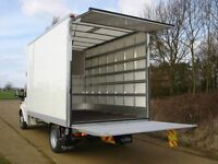 MAN&VAN LARGE LUTON WITH TAIL LIFT SHORT NOTICE 24/7 HOUSE OFFICE FLAT STUDEND MOVERS ALL OVER UK