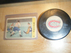 1969-73 MONTREAL CANADIENS PUCK NHL CONVERSE ART ROSS