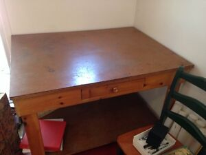 Beautiful well made wood work table - Great condition