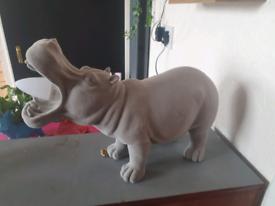 Unique, hippo lamp