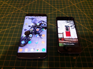 Samsung Galaxy S7 Edge and iPhone 5s - broken