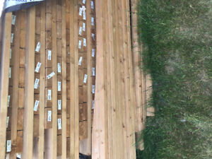 Fence panels all wood 4x6