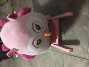 Baby owl rocker with music  ! Practically Brand new!
