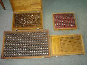 Steel Plug Pin Gages , 4 sets, .251-.500, .501-.625, .061-.250