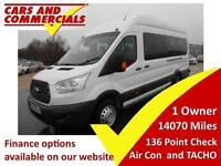 2015 65 FORD TRANSIT 2.2 460 TREND MINIBUS 17 SEATER 125PS A/C TACHO DIESEL