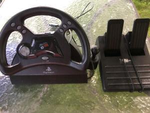 Mad Catz Play Station Racing Gaming Steering Wheel Analog