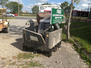 FREE TV pick up e-waste Air Conditioners -  recycling. Ecycle