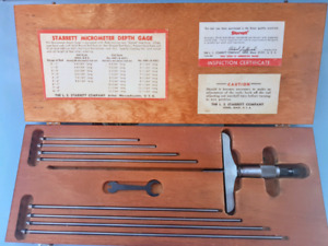 "Starrett Depth Micrometer 0""-9"" with box"