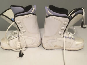 Ladies size 7 snowboarding boots
