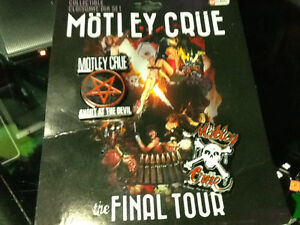 LIKE NEW! MOTLEY CRUE Collectible Pins FINAL TOUR $10