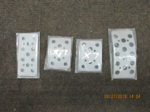 X7 brake,clutch,& gas pedal covers 79-93 mustang