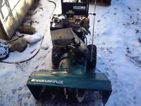 Snowblower great to fix up. Or for parts.
