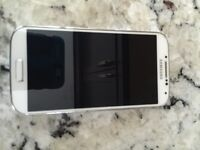 White Samsung s4 16 gb excellent condition