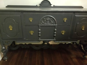 Antique Buffet Table Hutch (McLaggan Grand Master)