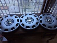 "Genuine VW Golf/Passat 15"" Wheel Trim x3"