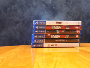 6 PS4 Titles great condition