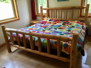 Custom Made Log King Sized Bed Frame