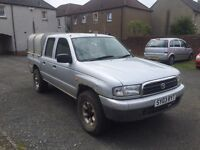 4x4 Mazda b2500 2.5 turbo diesel double cab pick up 2003 registered