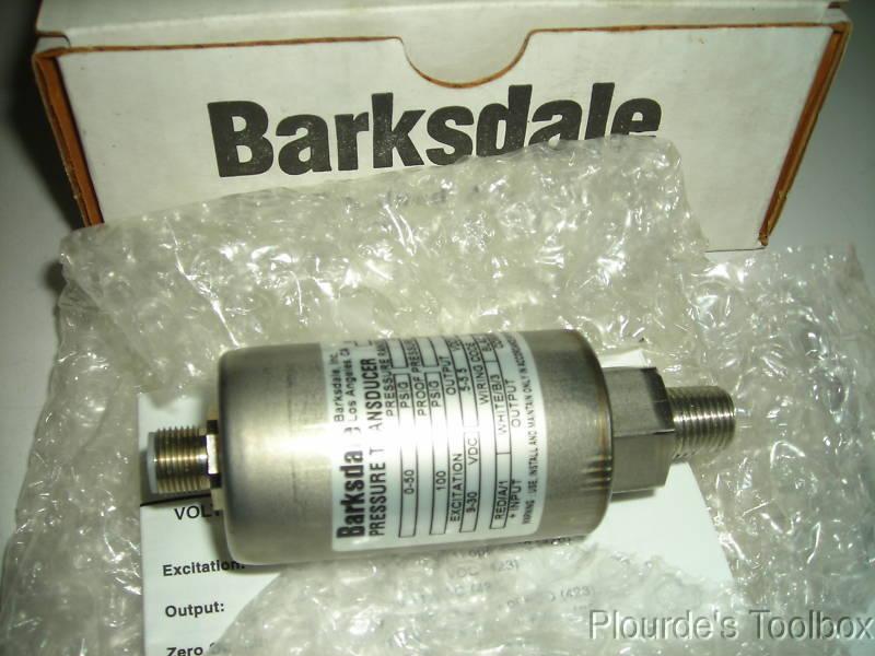 New Barksdale 50 PSIG Pressure Transducer 423T4-03