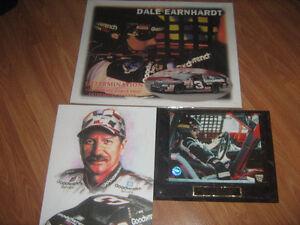 3 Dale Earnhardt plaque/picture/poster