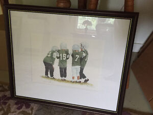 Patricia Bourque Numbered and Signed Print - Football Huddle Peterborough Peterborough Area image 1