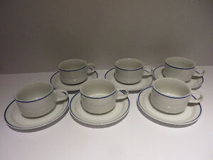 6 Vintage Coffee Cups and Saucers