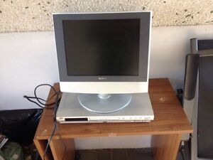 Small flat screen TV and DVD player