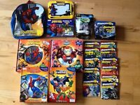 Bundle of Spiderman and Batman Books and Spiderman Backpack