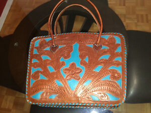 Brown & Turquoise Purse West Island Greater Montréal image 4