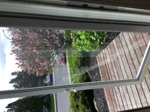 Contre porte vitre et moustiquaire