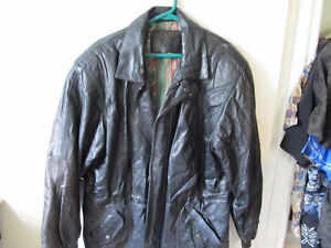 black leather jacket  size med