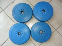 4 poids  haltères weight lifting dumbbell set 10 lb gym barbell