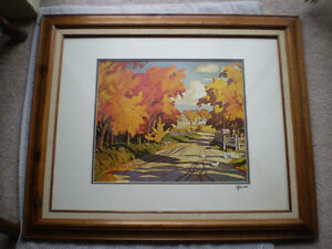 """Full Signature  A.J.Casson """"Country Road"""" Print Kitchener / Waterloo Kitchener Area image 1"""