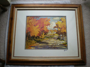 """Full Signature  A.J.Casson """"Country Road"""" Print"""