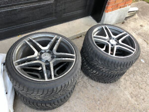 "18"" Mercedes Wheels and 225/40R18 + 255/35R18 Winter Tires C350"