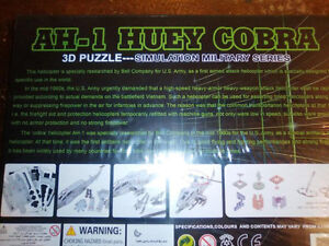 3D Puzzle Model AH-1 HUEY HELICOPTER - Brand New! London Ontario image 2